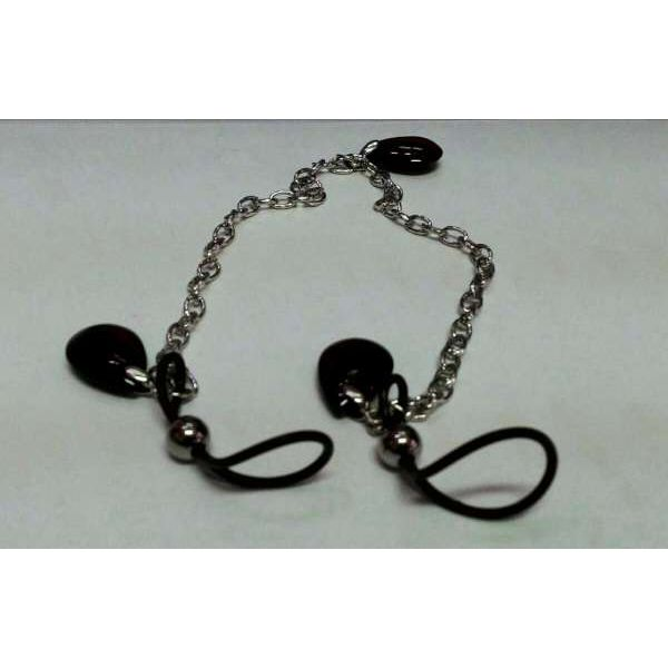 Зажимы на соски Nipple Play Non-Piercing Nipple Chain Jewelry - Onyx